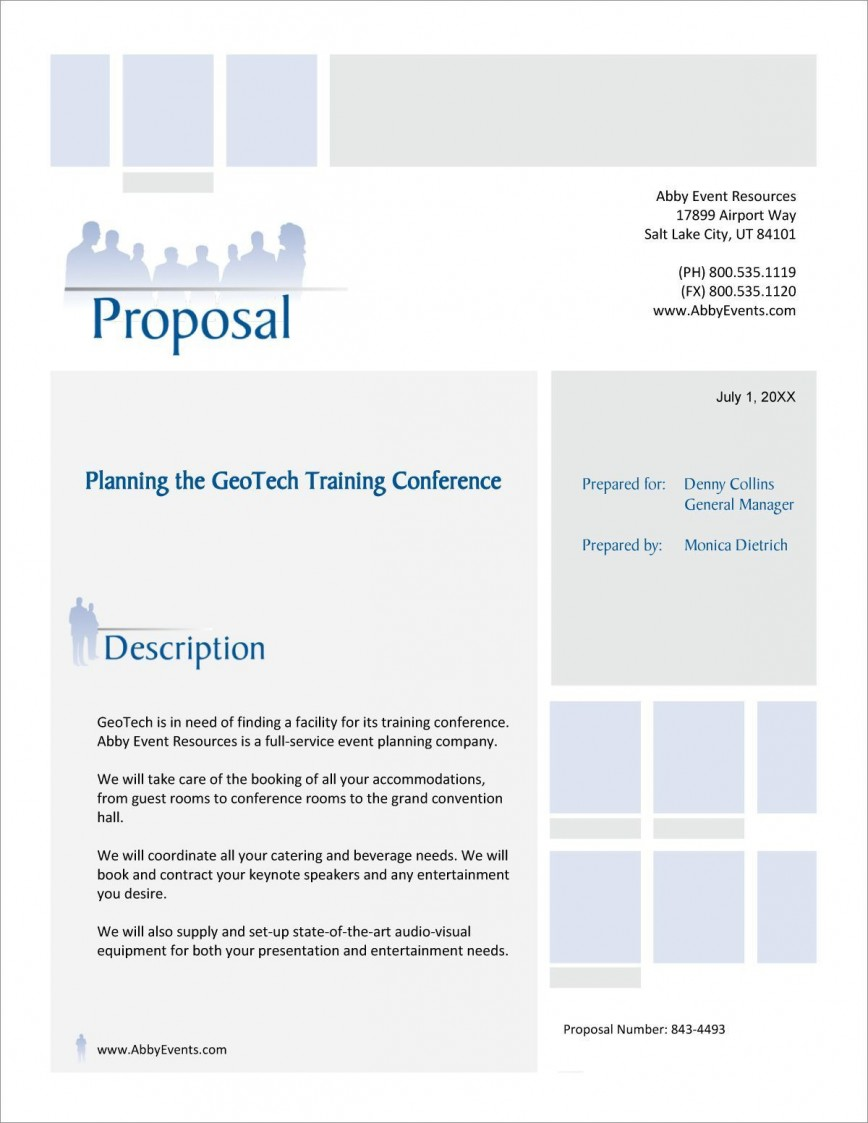 001 Stunning Event Planning Proposal Template Photo  Doc Ppt Pdf