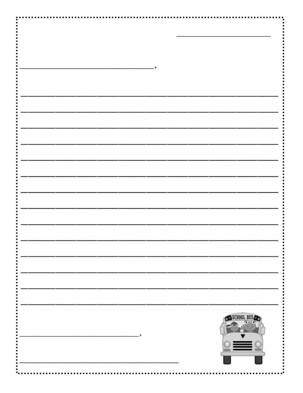 001 Stunning Free Letter Writing Template For Student Concept  StudentsLarge