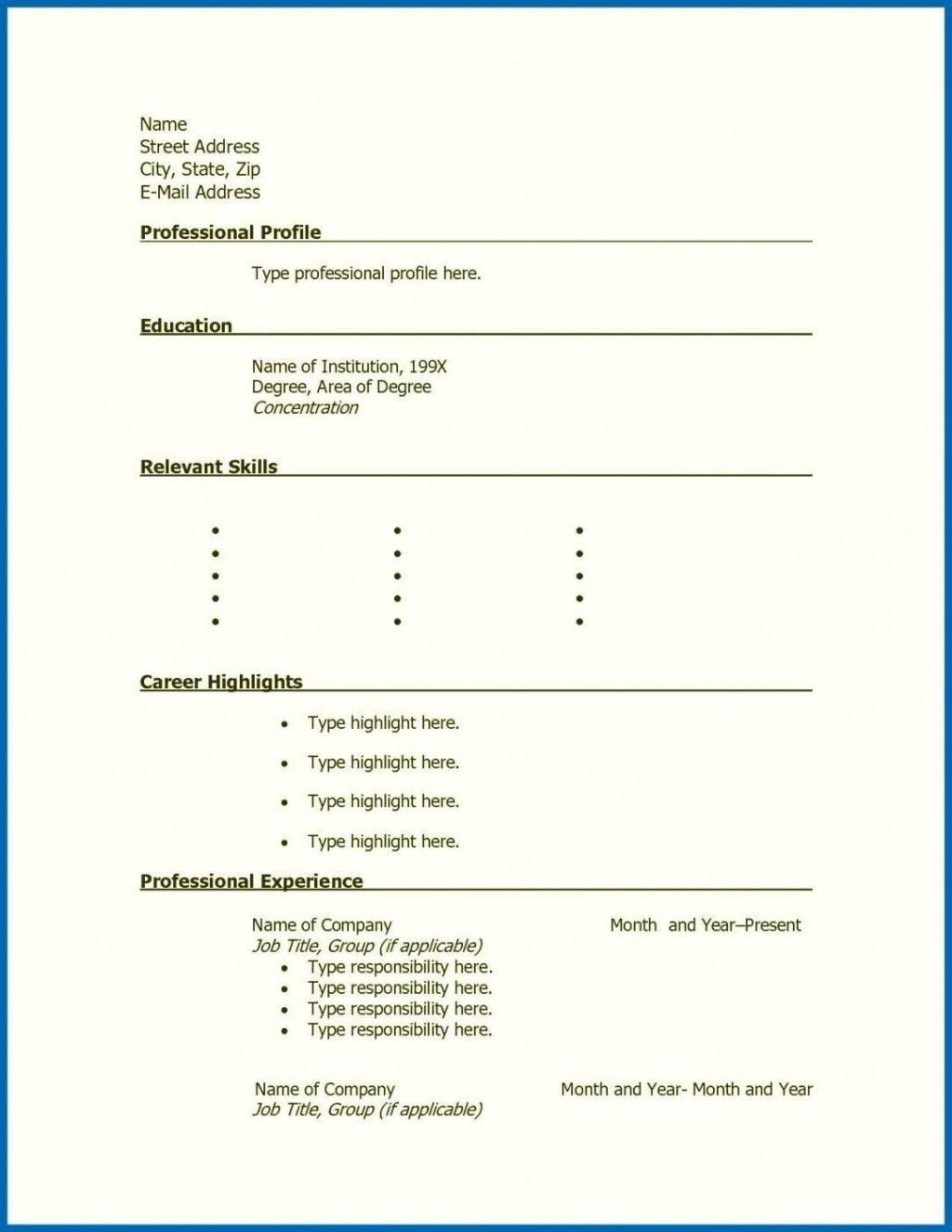 001 Stunning Free Printable Resume Template Blank Sample  FillLarge
