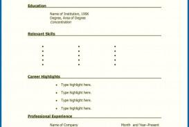 001 Stunning Free Printable Resume Template Blank Sample  Fill