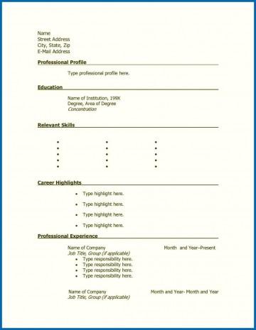 001 Stunning Free Printable Resume Template Blank Sample  Fill360