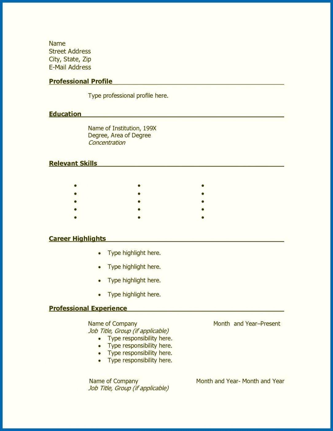 001 Stunning Free Printable Resume Template Blank Sample  FillFull