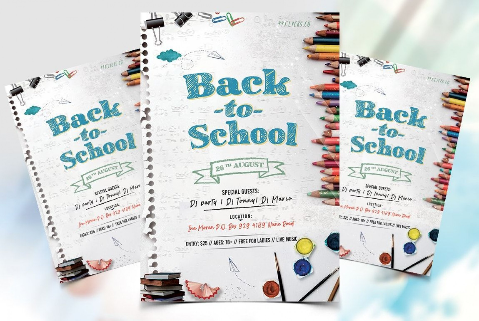 001 Stunning Free School Event Flyer Template Example  Templates1920