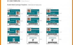001 Stunning Id Badge Template Word High Definition  Free Microsoft
