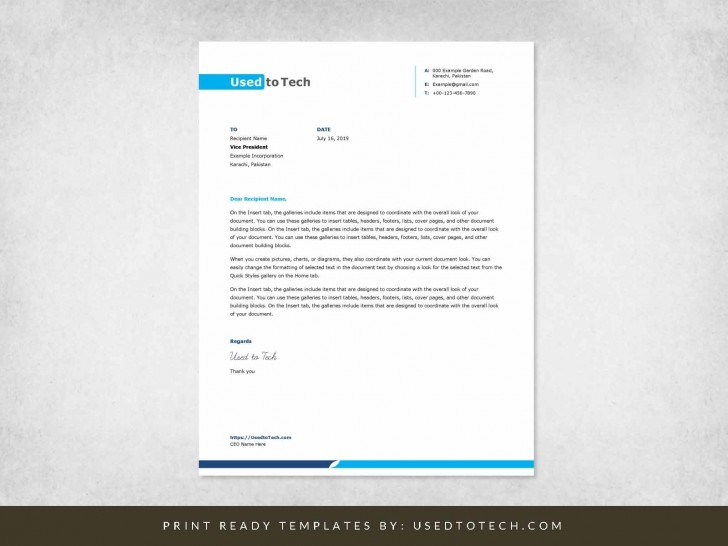 001 Stunning Letterhead Example Free Download Design  Format In Word For Company Pdf728