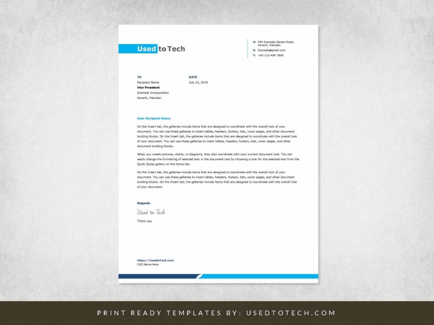 001 Stunning Letterhead Example Free Download Design  Format In Word For Company Pdf868