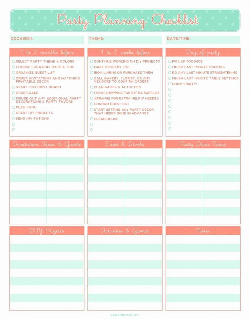001 Stunning Party Guest List Template Excel Free Sample Large