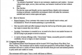 001 Stunning Restaurant Marketing Plan Template Free Download Picture