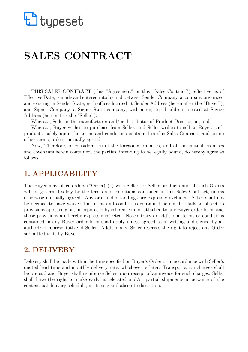 001 Stunning Sale Contract Template Word Highest Clarity  Sample Private CarFull