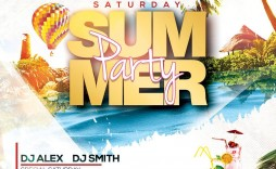 001 Stunning Summer Party Flyer Template Free Download Example