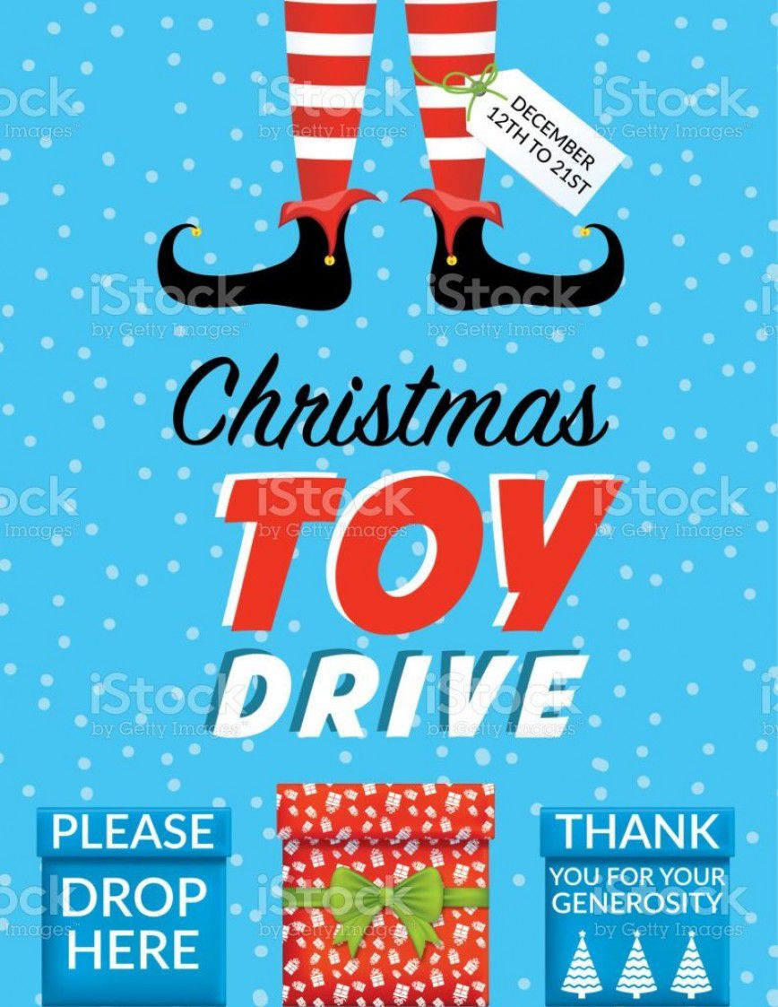 001 Stunning Toy Drive Flyer Template Photo  Holiday Download Free WordFull
