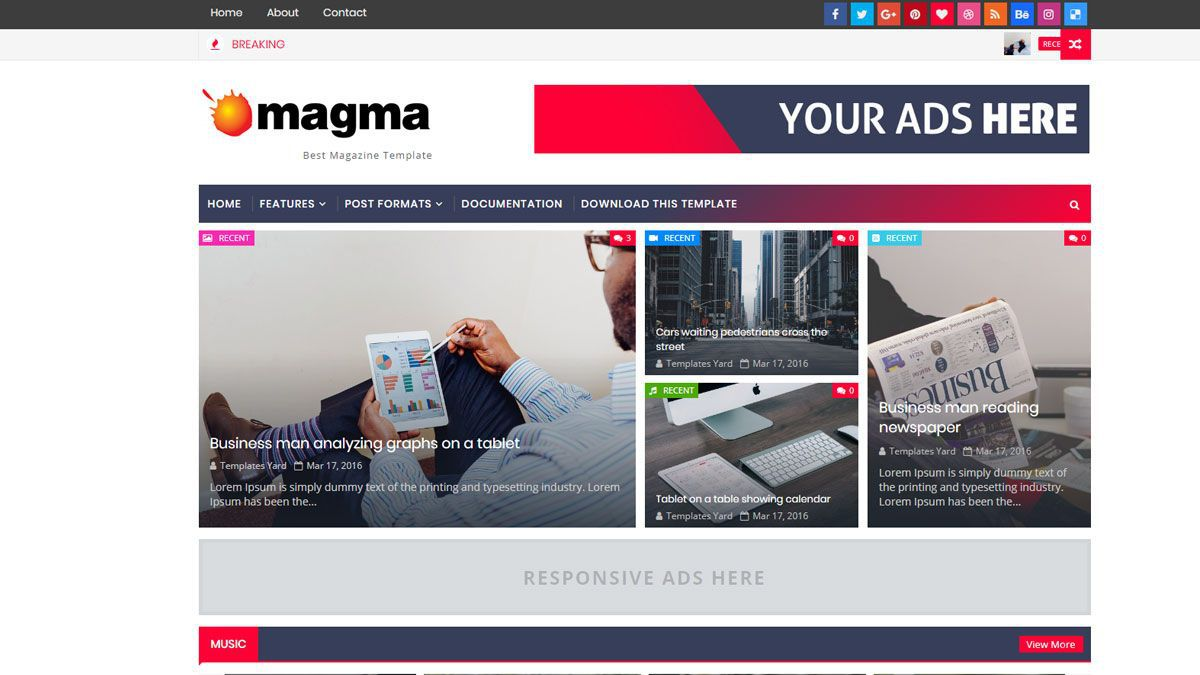 001 Stupendou Best Free Responsive Blogger Template High Resolution  Templates Mobile Friendly Top 2019Full