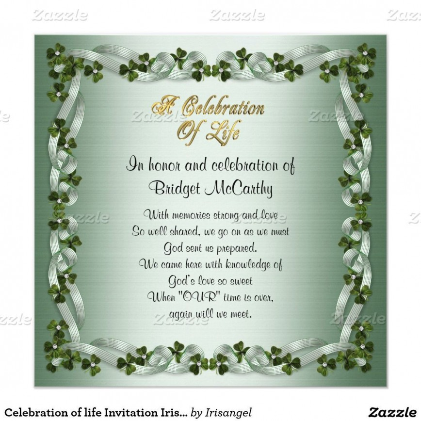 001 Stupendou Celebration Of Life Invite Template Free Highest Clarity  Invitation Download868
