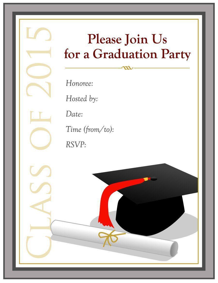 001 Stupendou College Graduation Party Invitation Template High Definition  TemplatesFull