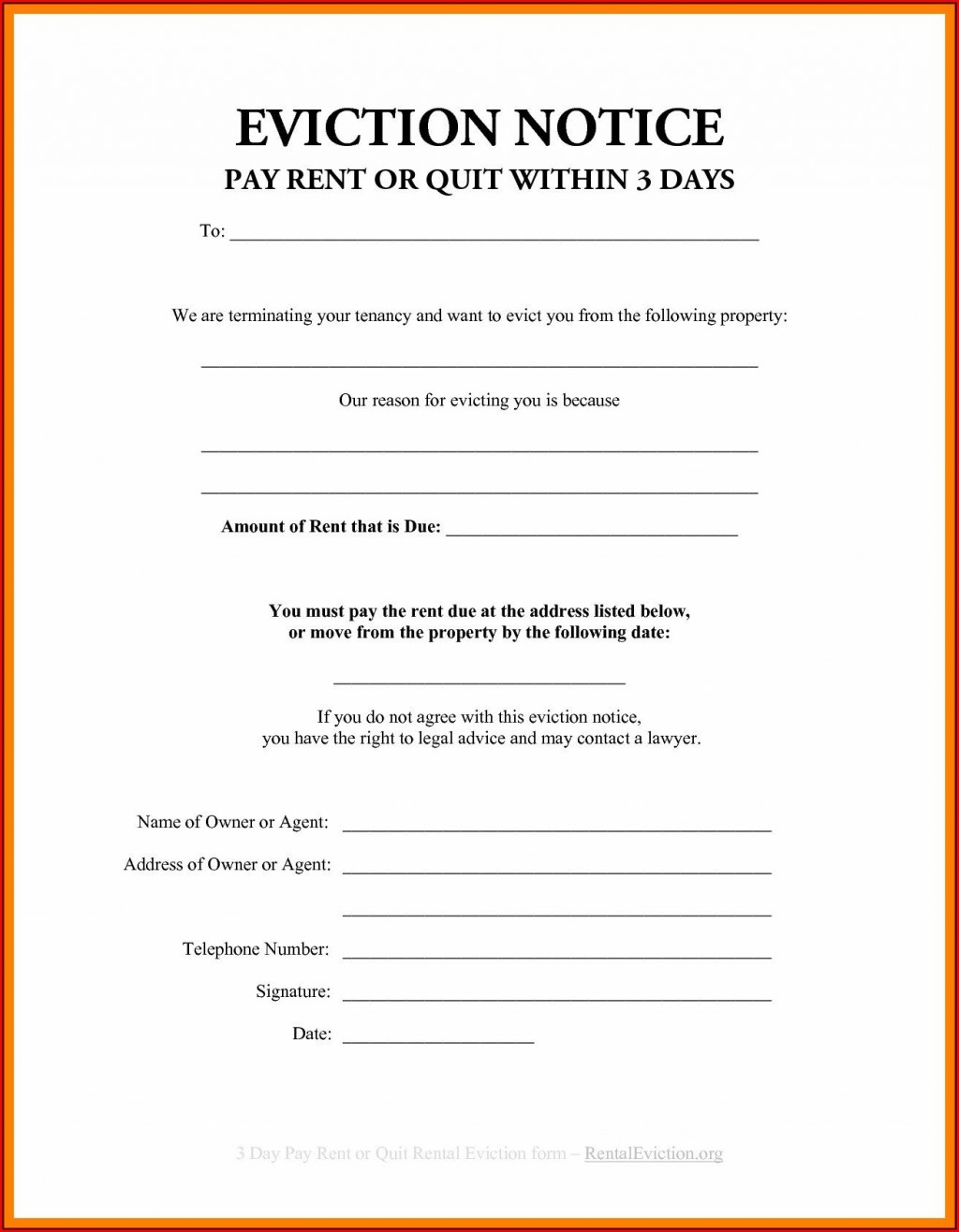 001 Stupendou Eviction Notice Template Free Design  30 Day Uk Word DocumentLarge