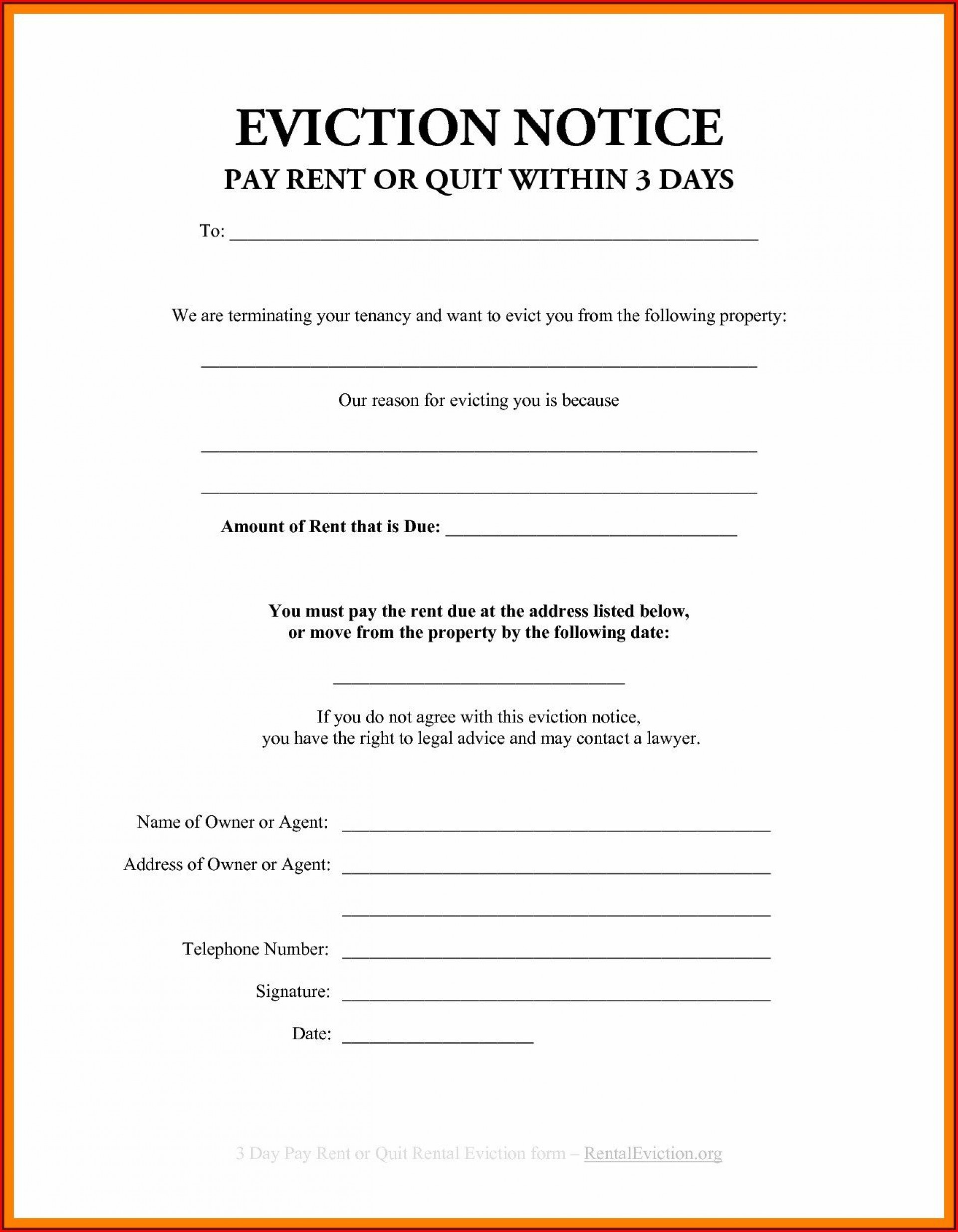 001 Stupendou Eviction Notice Template Free Design  30 Day Uk Word Document1920