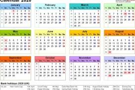 001 Stupendou Excel Calendar 2021 Template Design  2020 And Canada