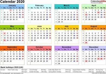 001 Stupendou Excel Calendar 2021 Template Design  2020 And Canada360