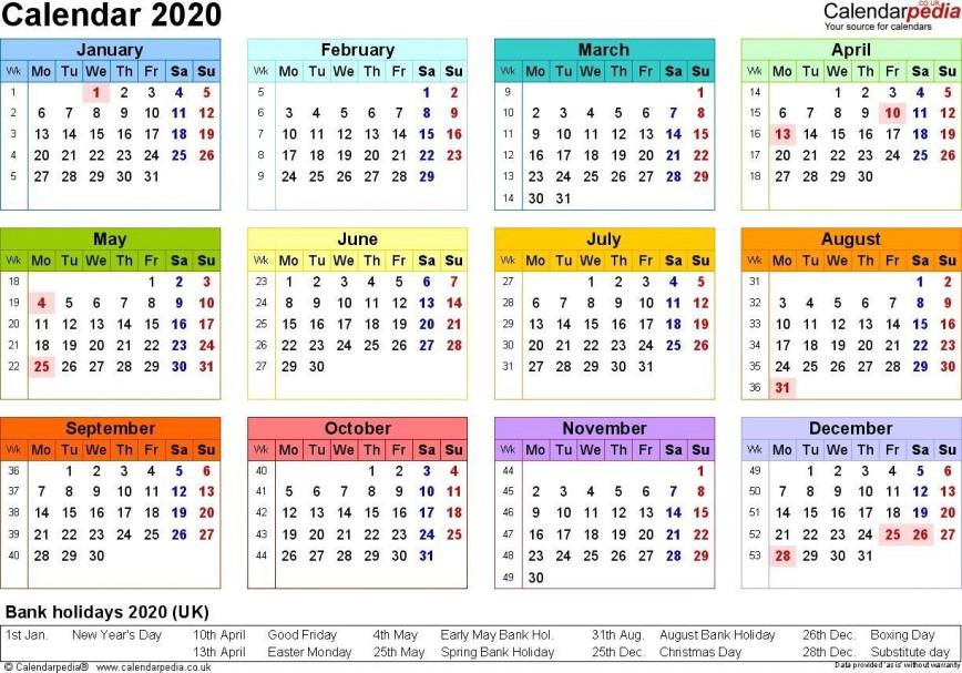 001 Stupendou Excel Calendar 2021 Template Design  2020 And Canada868