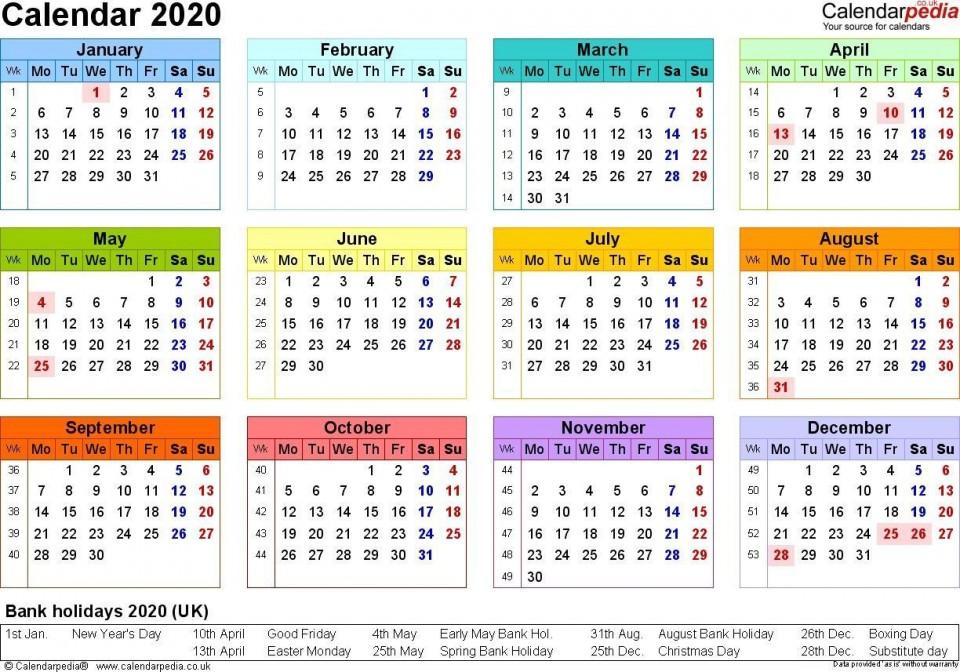001 Stupendou Excel Calendar 2021 Template Design  2020 And Canada960