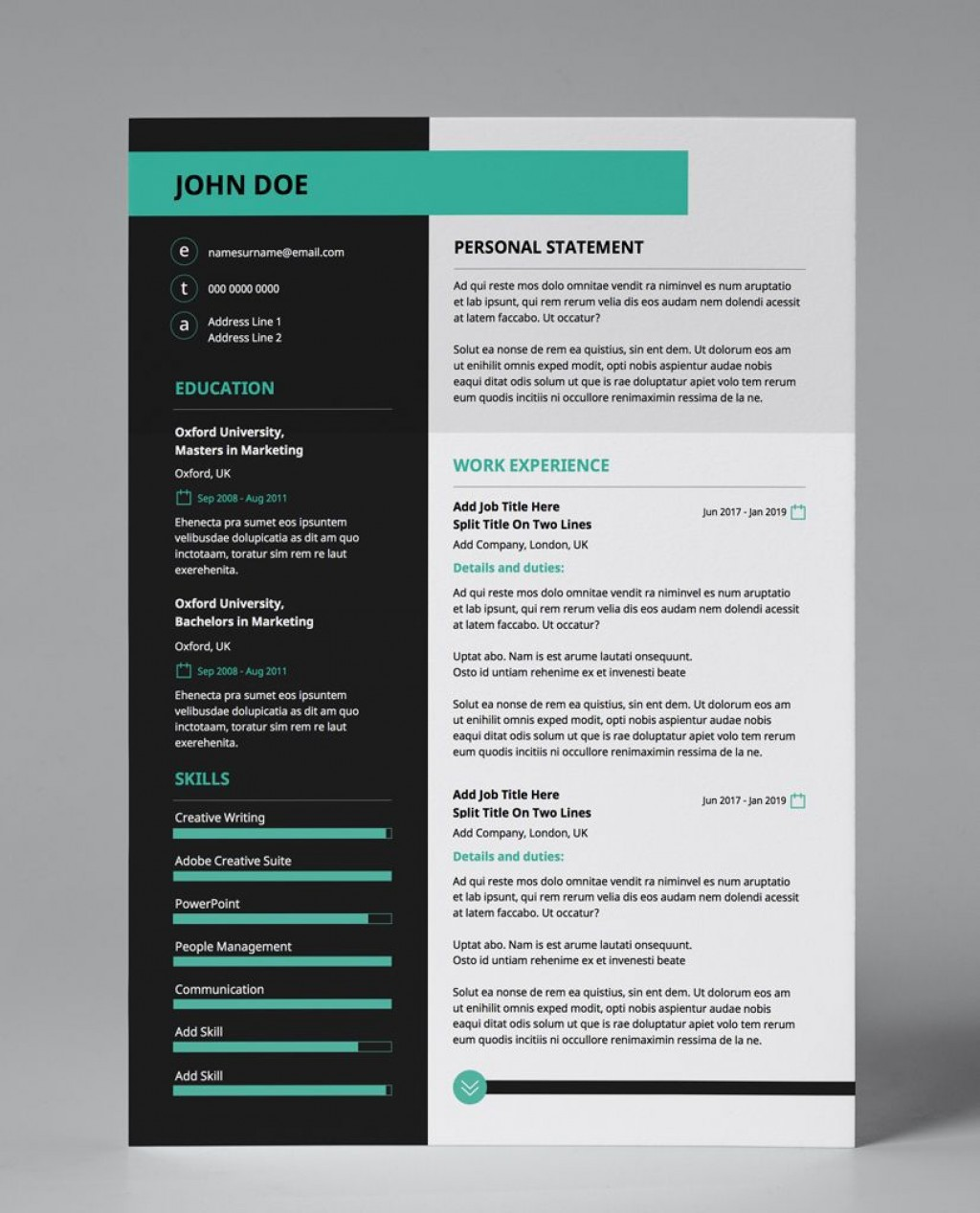 001 Stupendou Eye Catching Resume Template Picture  Microsoft Word Free Download MostLarge