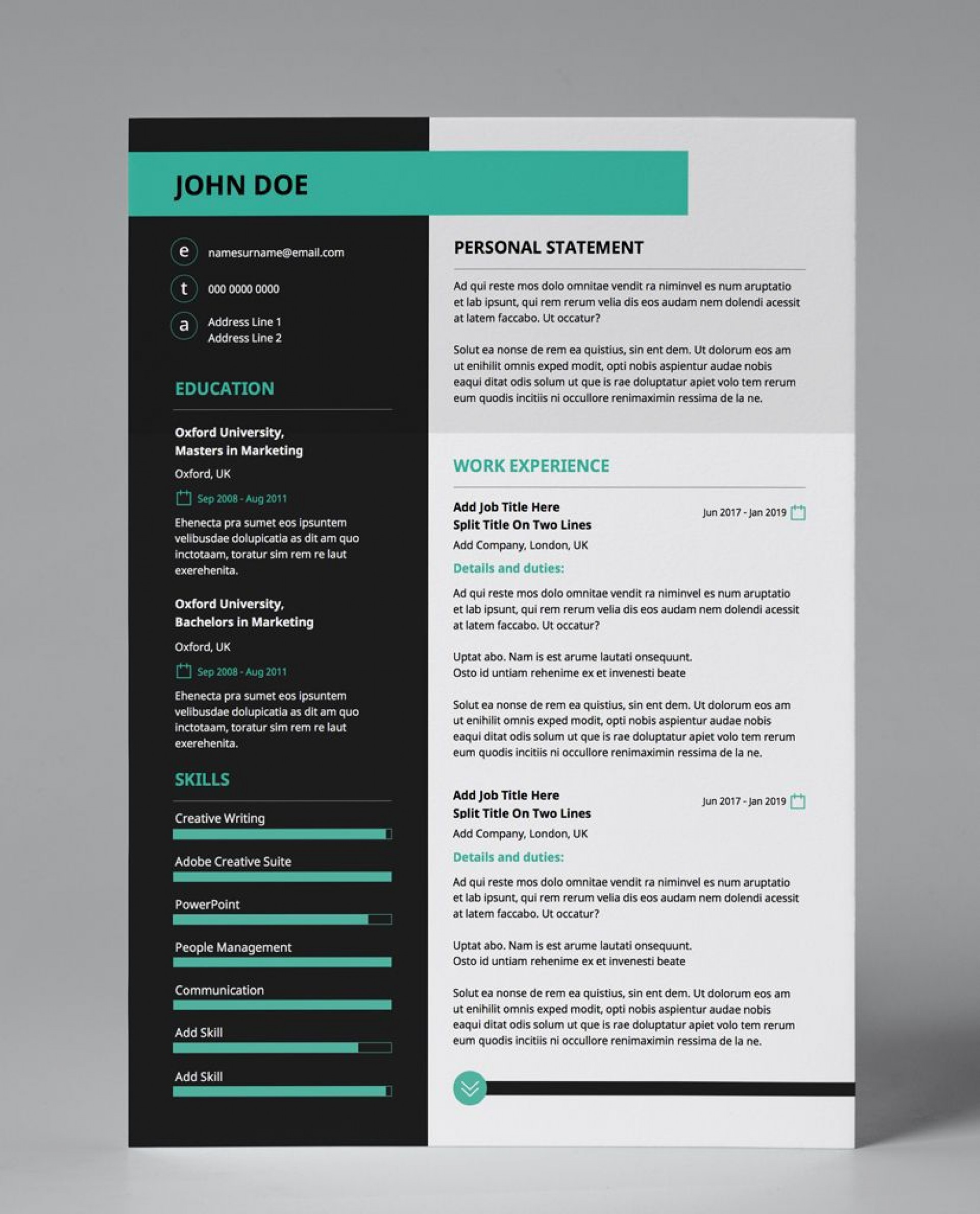 001 Stupendou Eye Catching Resume Template Picture  Microsoft Word Free Download Most1920