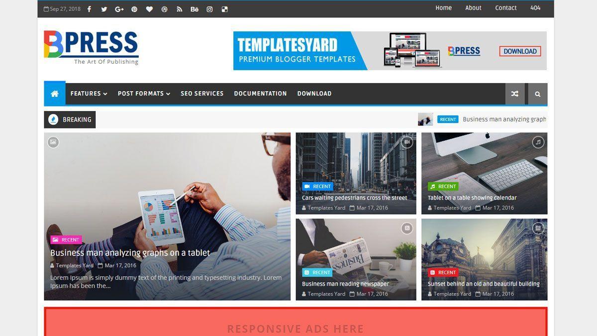 001 Stupendou Free Responsive Blogger Template Design  2019 Top Mobile FriendlyFull
