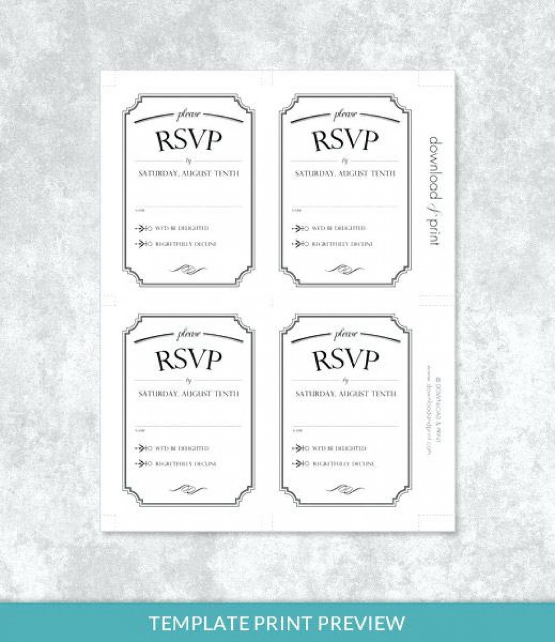 001 Stupendou Microsoft Word Invitation Template 4 Per Page High Def 1920