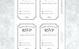 001 Stupendou Microsoft Word Invitation Template 4 Per Page High Def