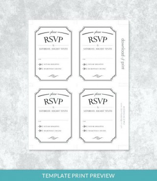 001 Stupendou Microsoft Word Invitation Template 4 Per Page High Def 320