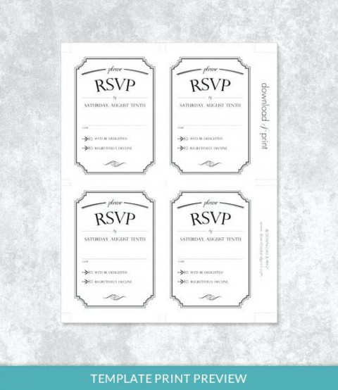 001 Stupendou Microsoft Word Invitation Template 4 Per Page High Def 480