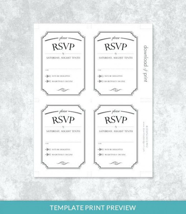 001 Stupendou Microsoft Word Invitation Template 4 Per Page High Def 728