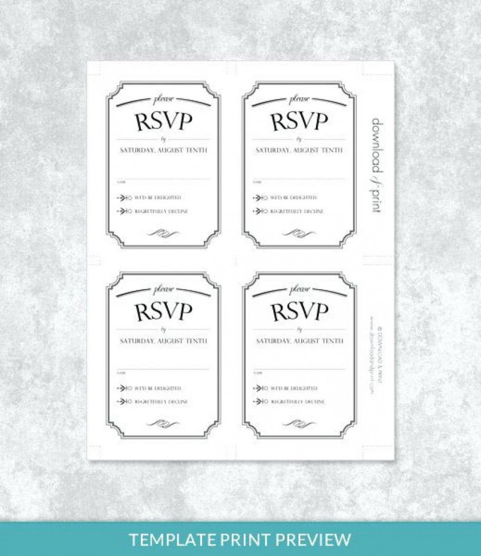 001 Stupendou Microsoft Word Invitation Template 4 Per Page High Def 960