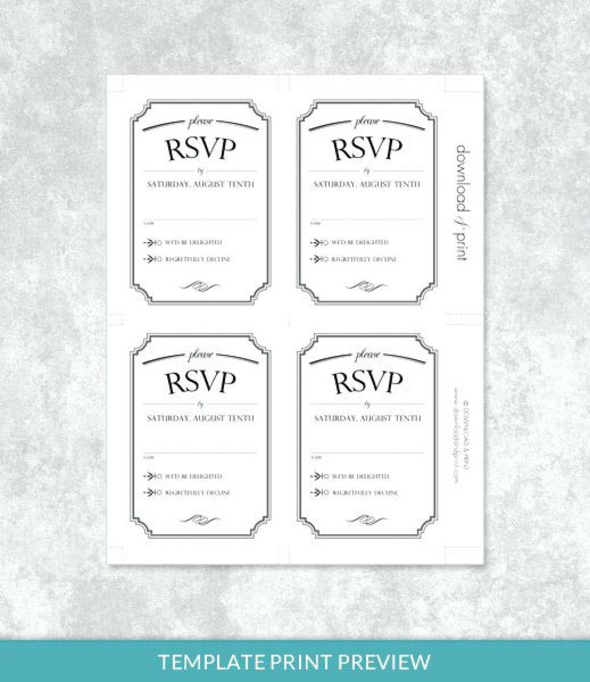 001 Stupendou Microsoft Word Invitation Template 4 Per Page High Def Full