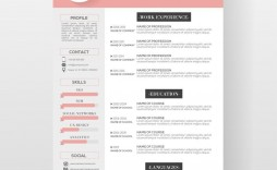 001 Stupendou Photoshop Cv Template Free Download Inspiration  Creative Resume Psd Adobe