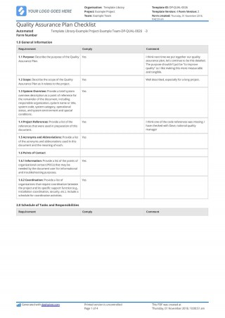 001 Stupendou Quality Control Plan Template Excel Inspiration  Construction Format320