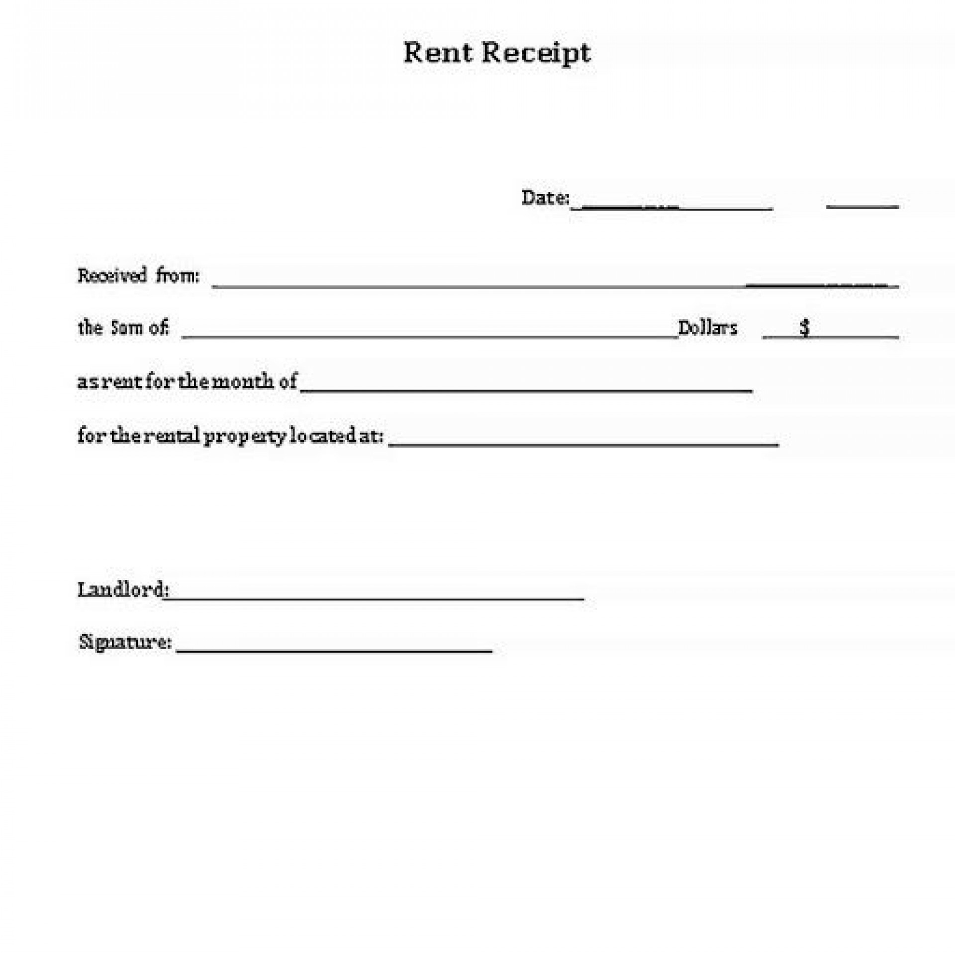 001 Stupendou Rent Receipt Sample Doc Highest Quality  Format Free Download India Word1920