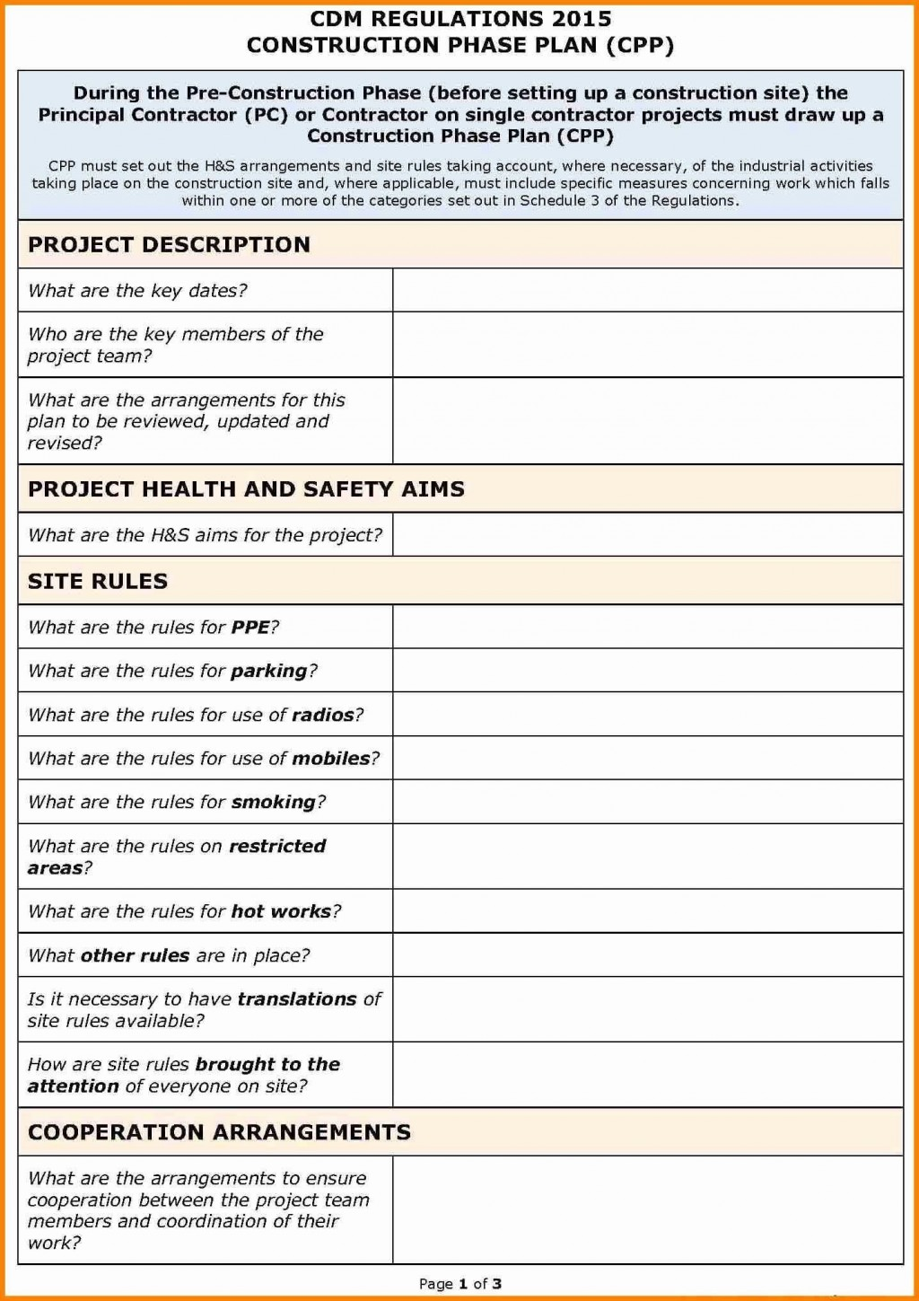 001 Stupendou Site Specific Safety Plan Checklist Example Inspiration Large