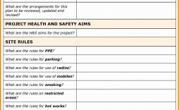 001 Stupendou Site Specific Safety Plan Checklist Example Inspiration