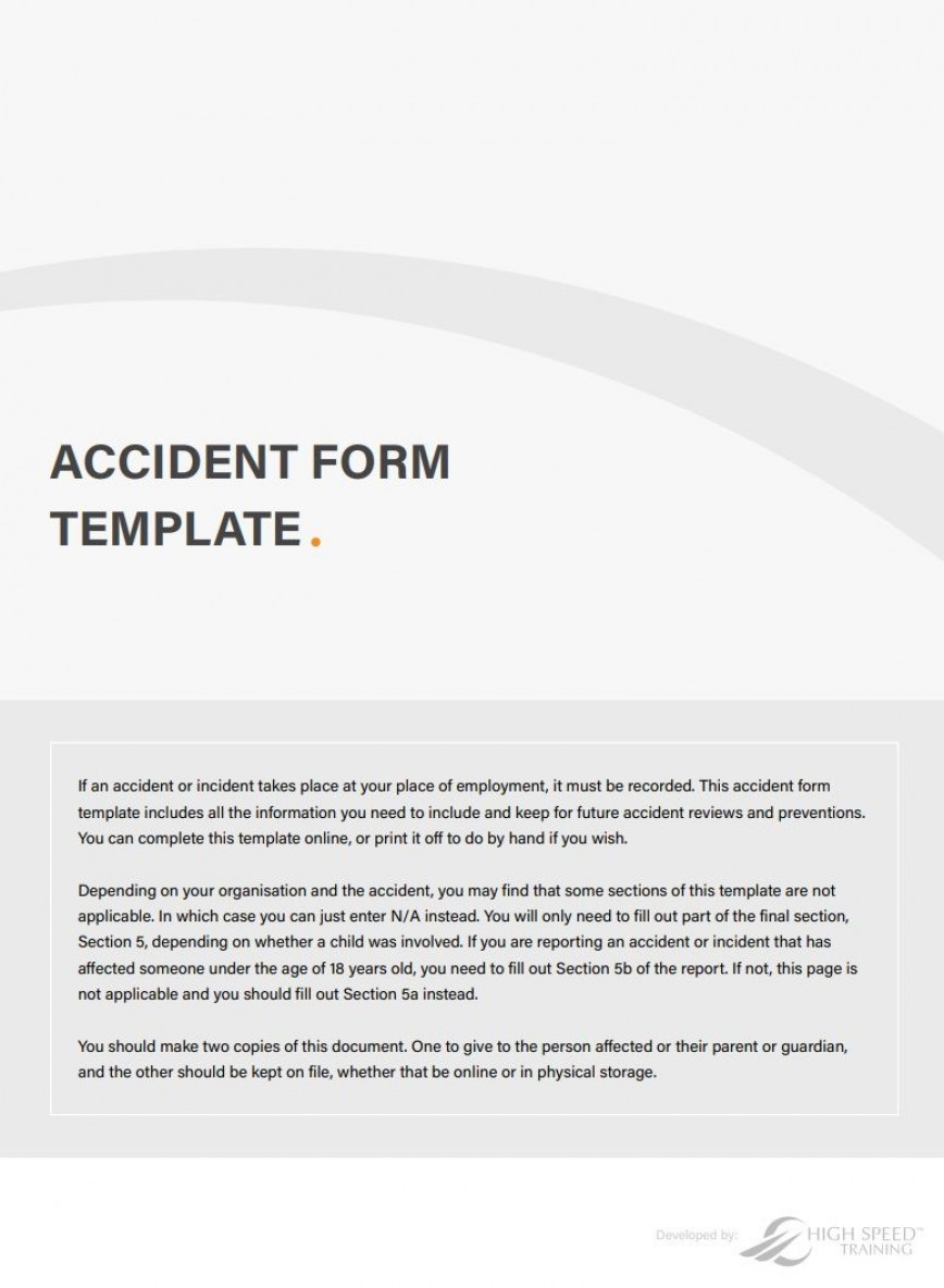 001 Stupendou Workplace Incident Report Template Uk Image