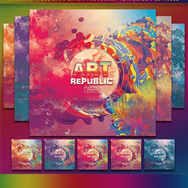 001 Surprising Cd Cover Design Template Photoshop  Label Psd Free728
