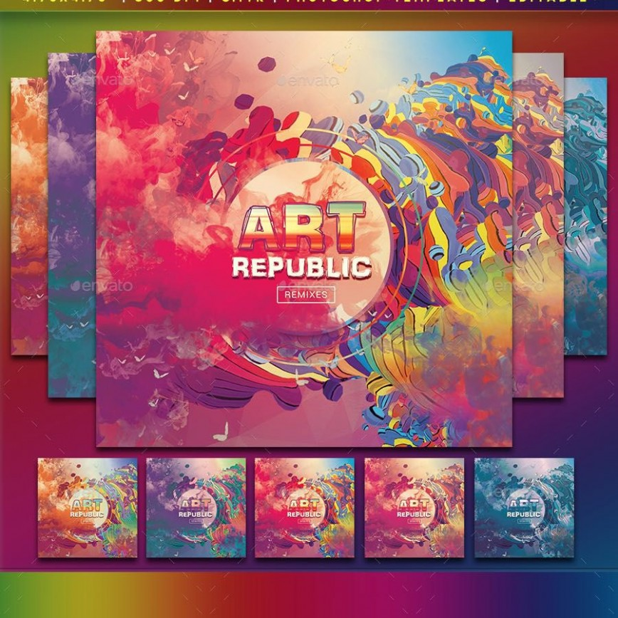 001 Surprising Cd Cover Design Template Photoshop  Label Psd Free868