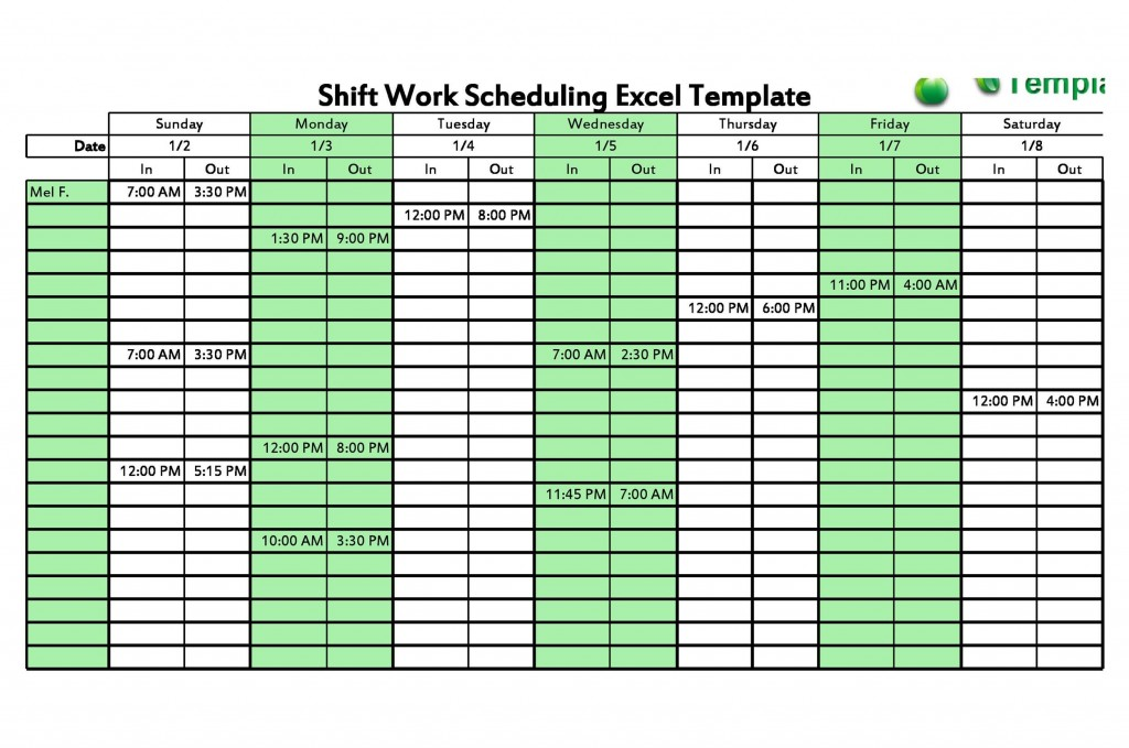 001 Surprising Free 12 Hour Rotating Shift Schedule Template Example Large
