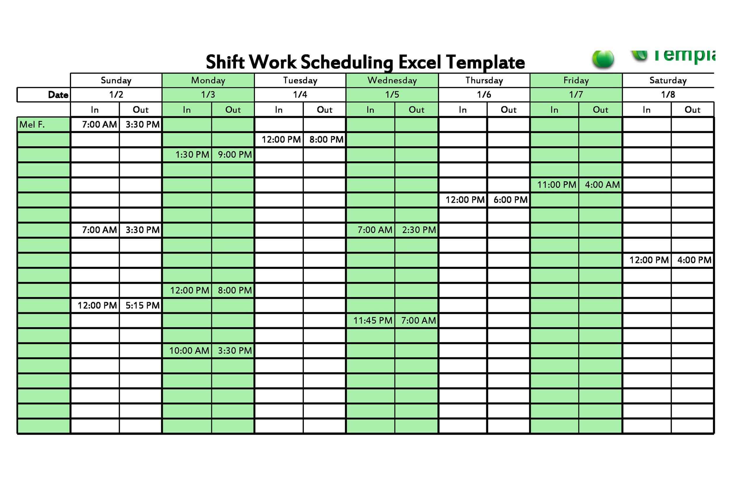 001 Surprising Free 12 Hour Rotating Shift Schedule Template Example Full