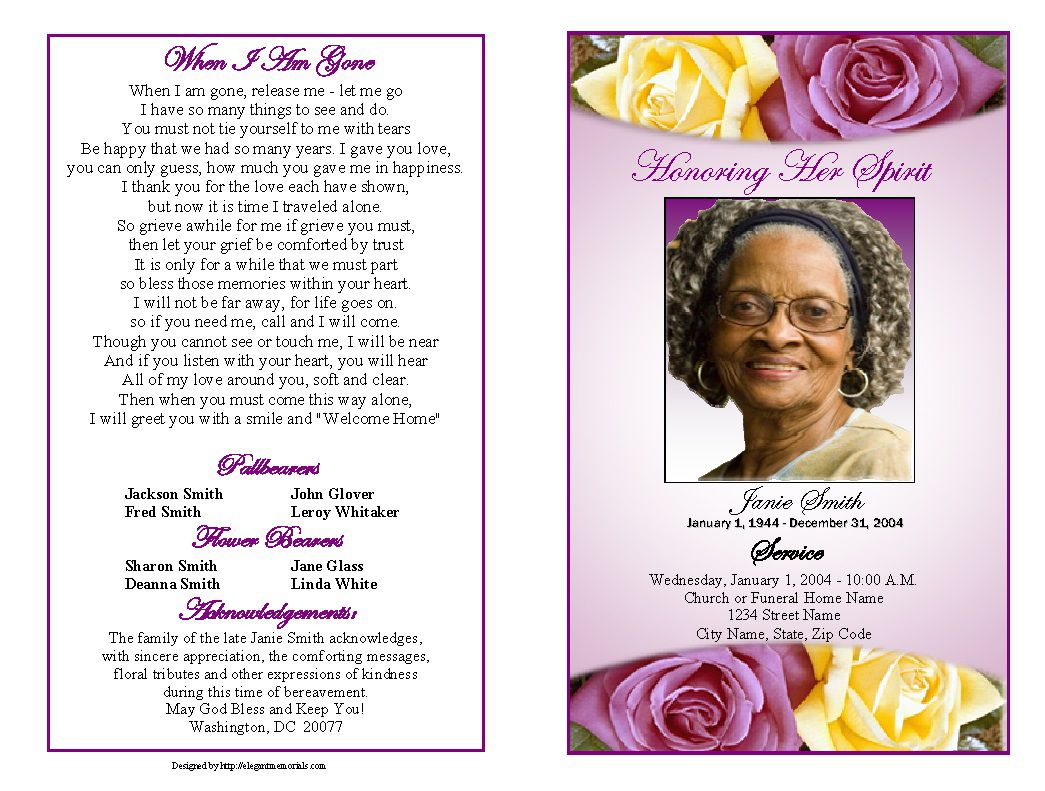 001 Surprising Free Funeral Pamphlet Template Photo  Word Simple Program Download PsdFull