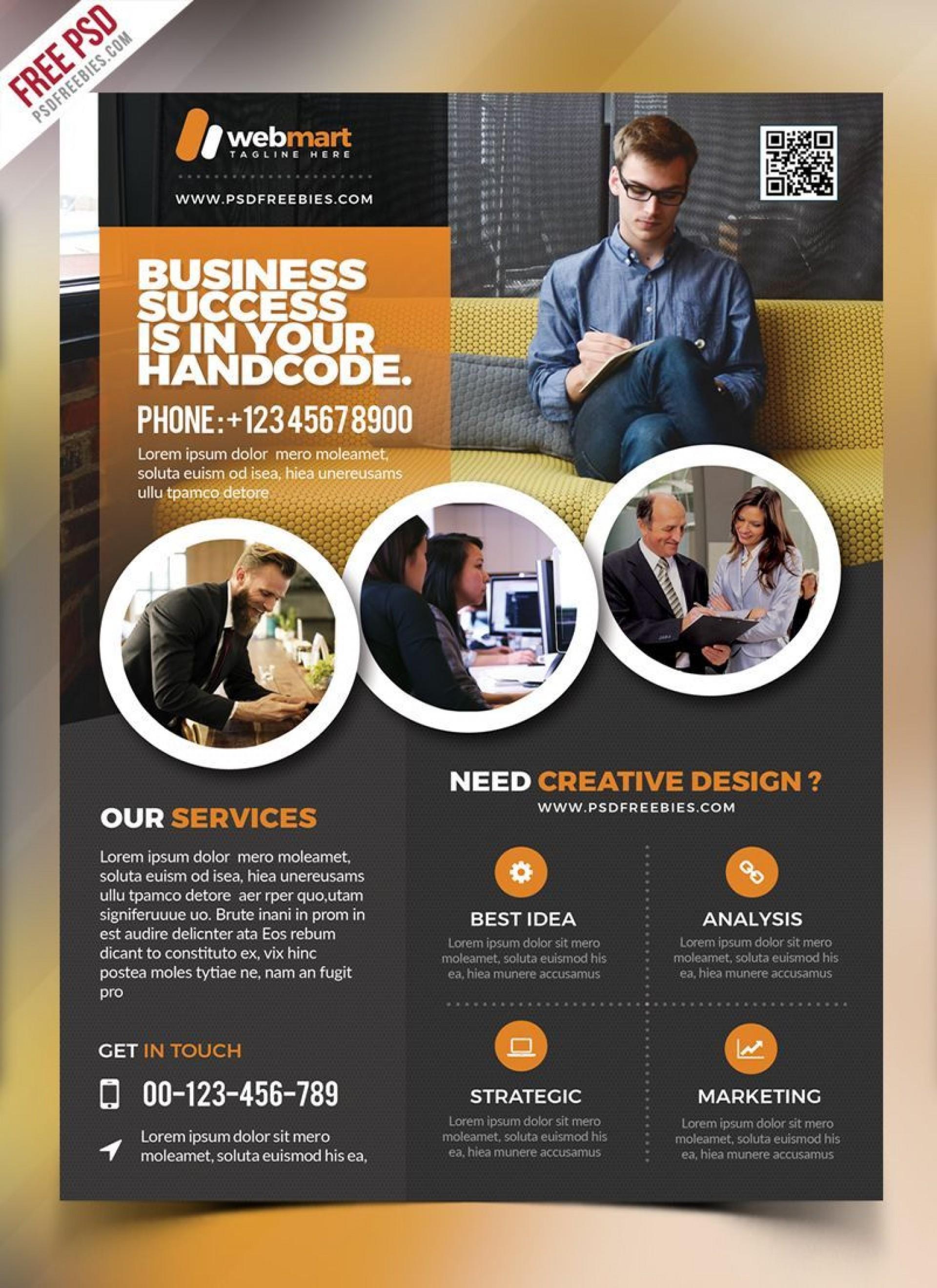 001 Surprising Free Psd Busines Brochure Template Image  Templates Flyer 2018 Corporate1920