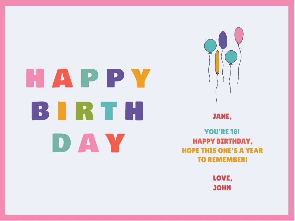 001 Surprising Happy Birthday Card Template For Word Example Large