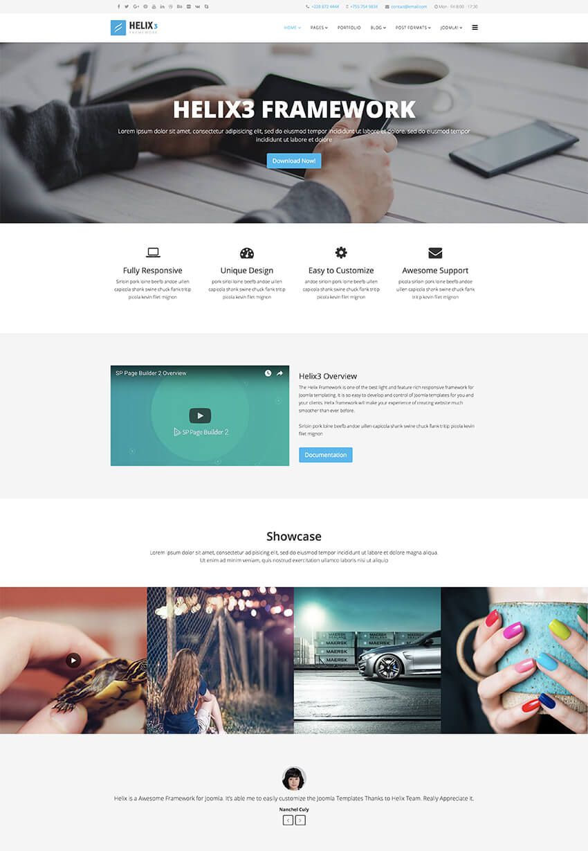 001 Surprising Joomla Responsive Template Free Concept  3.0 Download Busines 3Full