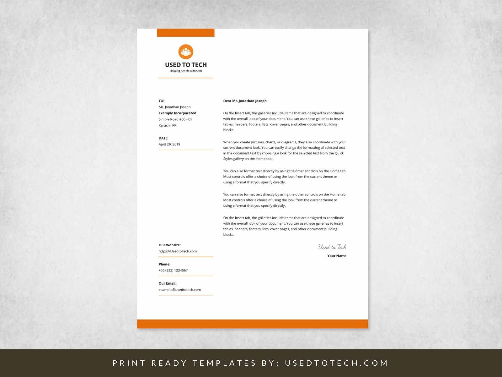 001 Surprising Letterhead Sample In Word Format Free Download Example  Design Template PsdFull