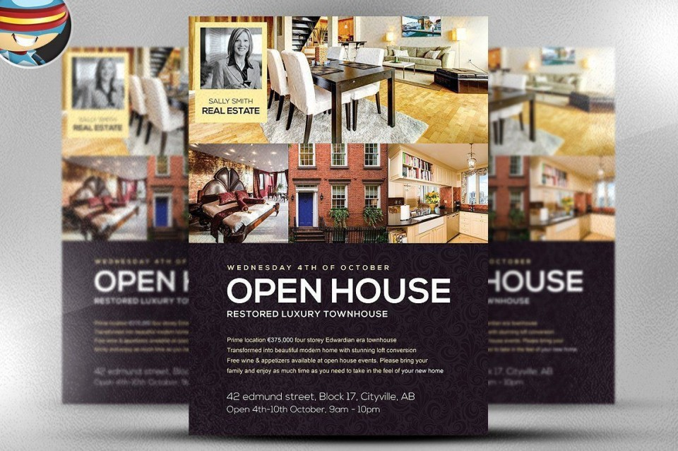 001 Surprising Open House Flyer Template Word Inspiration  Free Microsoft960